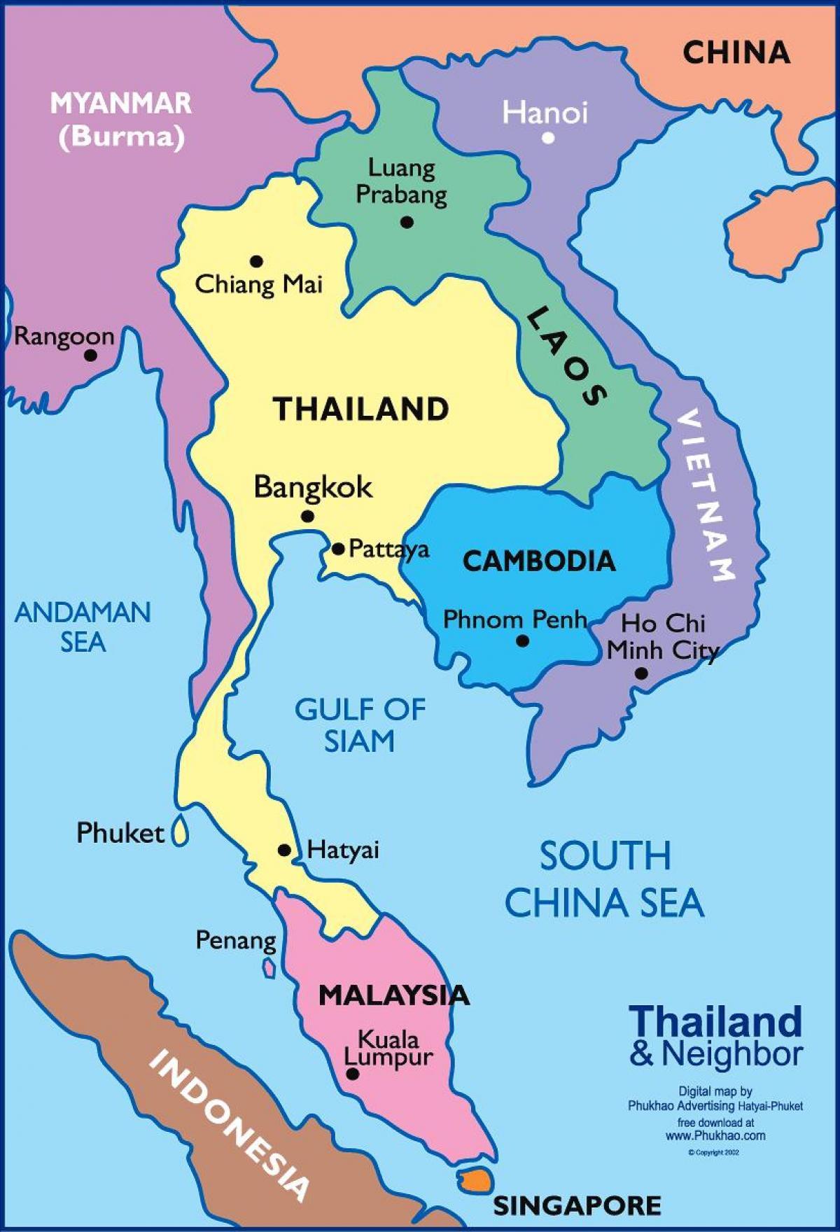 Carte Thailande Imprimer.Bangkok Thailand Carte Bangkok Thailandais Carte Thailande