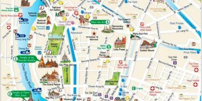 Bangkok Lieux Visiter Carte